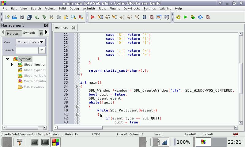 Code::Blocks with C/C++/Py/Perl/Fortran/Ruby/Basic Developme