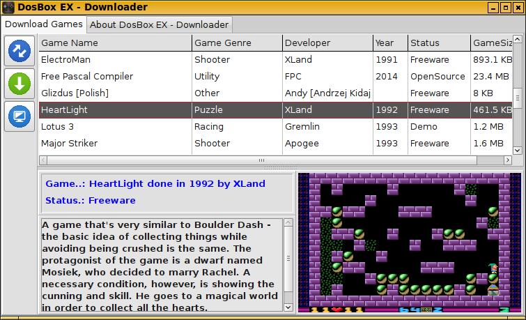 DosBox EX + Games Downloader - Package Details - repo openpandora
